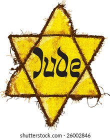 Jewish Yellow Star (Jude Star). David's Star was used in Ghetto and Concentration Camps.