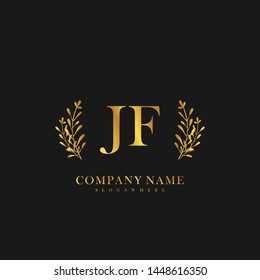 JF Initial beauty floral logo template