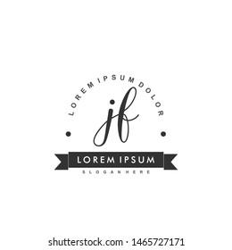 JF Initial beauty monogram logo vector