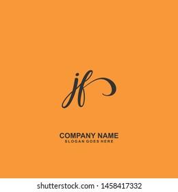 JF Initial handwriting logo vector