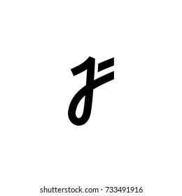 JF Initial Letter Logo Vector
