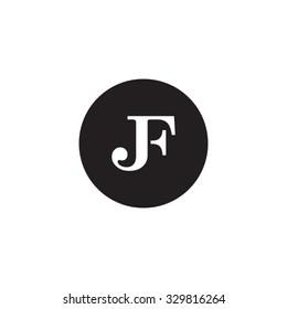 JF initial monogram circle logo