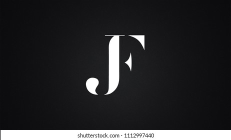JF Letter Logo Design Template Vector