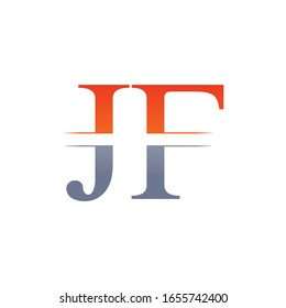 JF letter Type Logo Design vector Template. Abstract Letter JF logo Design