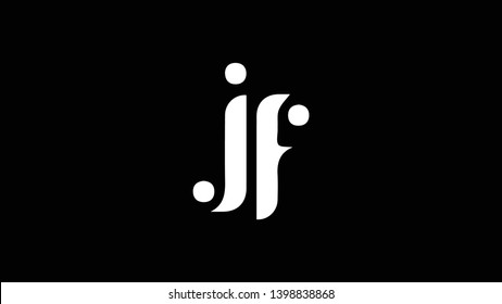JF logo design template vector illustration