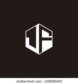 JF Logo Initial Monogram Negative Space Designs Templete