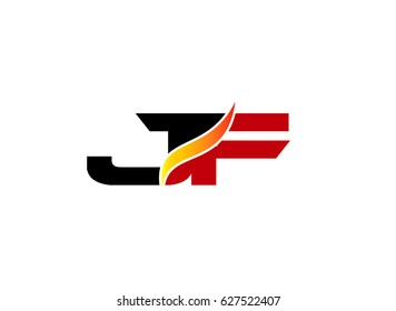 JF Logo. Vector Graphic Branding Letter Element