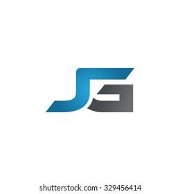 JG company linked letter logo blue