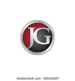 JG initial circle logo red