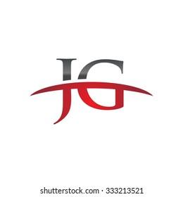 JG initial company red swoosh logo