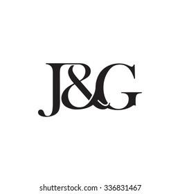 J&G Initial logo. Ampersand monogram logo