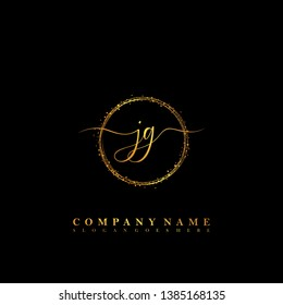 JG Initial luxury handwriting logo vector