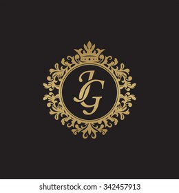 JG initial luxury ornament monogram logo