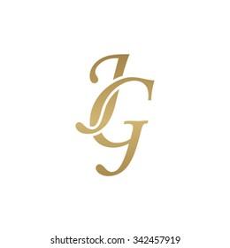 JG initial monogram logo