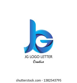 jg j g circle lowercase design of alphabet letter combination with infinity suitable as logo for a company or corporate business template design - Vector