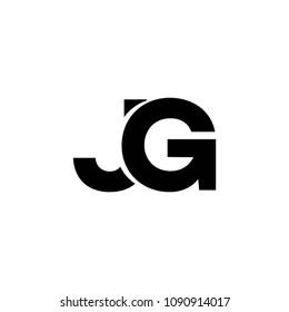 jg letter logo vector