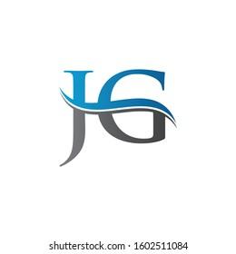 JG letter Type Logo Design vector Template. Letter JG logo Design