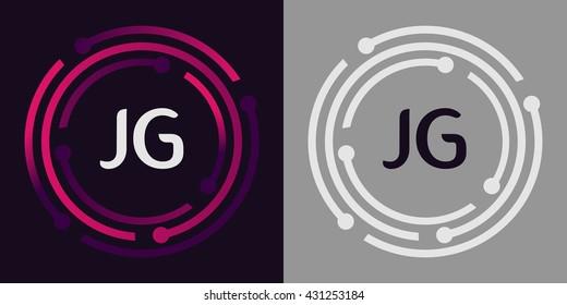 JG letters business logo icon design