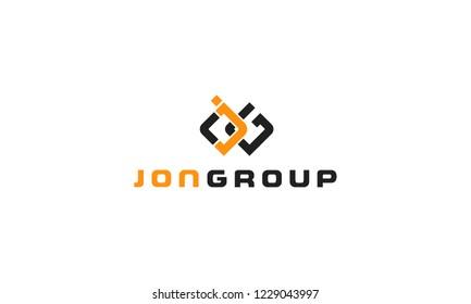JG letters monogram logo
