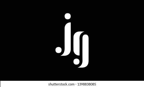 JG logo design template vector illustration