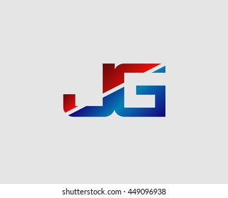 JG logo or signature started by j letter, modern two letter composition for initial