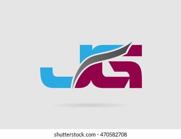 JG Logo. Vector Graphic Branding Letter Element