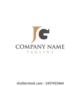 JG negative space logo for law firms