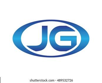 JG-letter abbreviations blue oval logo