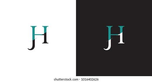 JH, HJ logo, monogram, vector