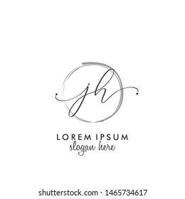 JH Initial beauty monogram logo vector