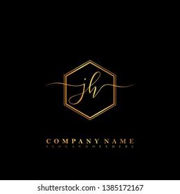 JH Initial luxury handwriting logo vector