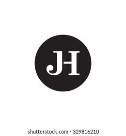 JH initial monogram circle logo