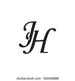 JH initial monogram logo