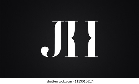 JH Letter Logo Design Template Vector