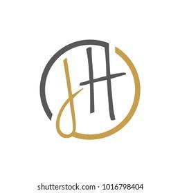 JH Letter logo vector