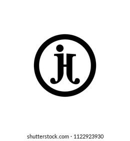 jh letter vector logo