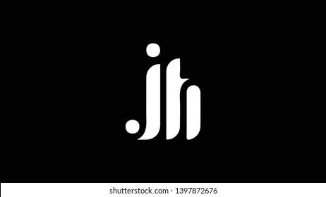 JH logo design template vector illustration