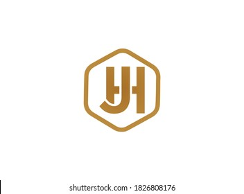 Jh logo design.Letter Jh modern and minimal logo design