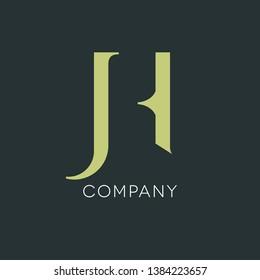 JH logo. Monogram JH. Logo for company