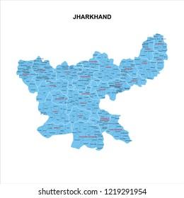 JHARKHAND MAP GRAPHIC