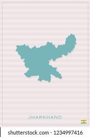 JHARKHAND VECTOR MAP
