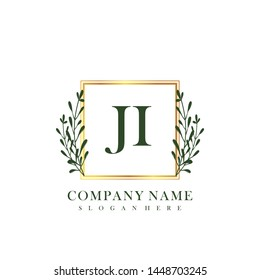 JI Initial beauty floral logo template