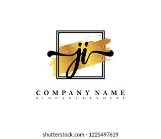 JI Initial handwriting logo concept