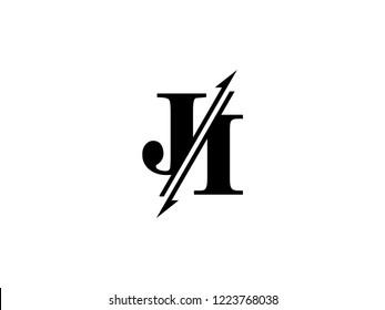 JI initials logo sliced