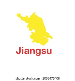 jiangsu map on white background