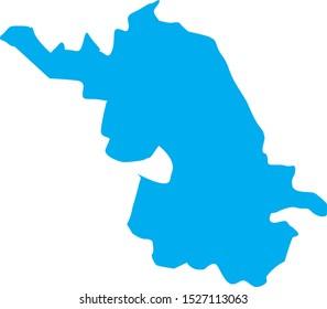 jiangsu region map in country of china