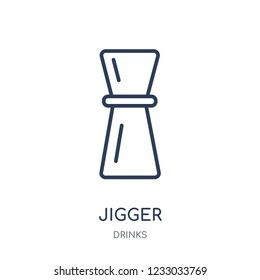 Jigger icon. Jigger linear symbol design from drinks collection. Simple outline element vector illustration on white background