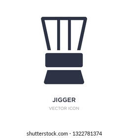 jigger icon on white background. Simple element illustration from Drinks concept. jigger sign icon symbol design.