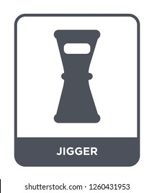 jigger icon vector on white background, jigger simple element illustration