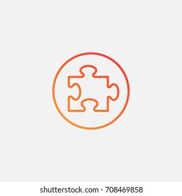 Jigsaw icon.gradient illustration isolated vector sign symbol